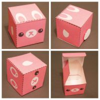 Pink Bunny Gift Box by hellohappycrafts