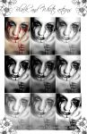 Black and White actions by photoshop-stock