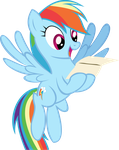 Rainbow Dash Has Mail (Vector) by DatBrass