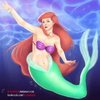 Ariel, little mermaid by HornedNinja