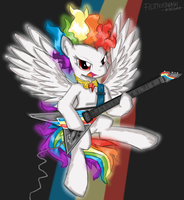 Commission - Rockin' Super Rainbow Dash by FlutterThrash