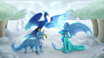 :Commish: - Mystical Ice (3/4) by Venus-Dragoness