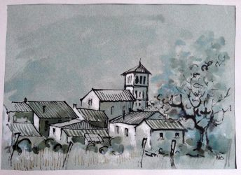 Village de Dordogne . INK. by ClairObscur16