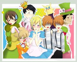 Ouran in Wonderland by EvilKateh