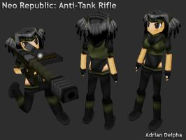 Neo Republic Anti-Tank Rifle Girl by DelphaDesign