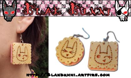 Fudgy Cookie Earring by BlakBunni
