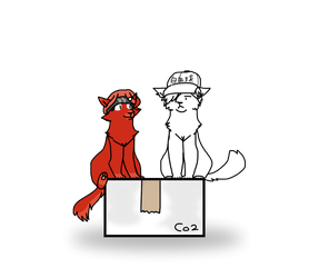 Neko Red Blood Cell 3803 and White Blood Cell 1146 by TinyWindowless