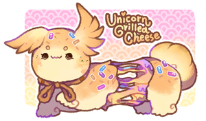 [Closed] Unicorn Grilled Cheese Scribblin by moonbeani