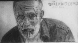 Merle dixon drawing - The Walking Dead by lyyy971
