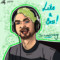 Jacksepticeye - fan art attempt #2 by rocklovingwolf100