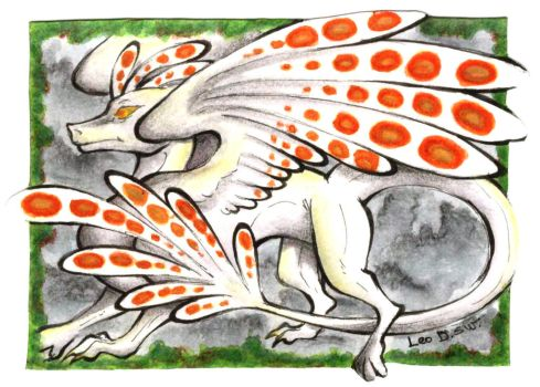 ACEO Trade - Hazer Dragon by LeoDragonsWorks
