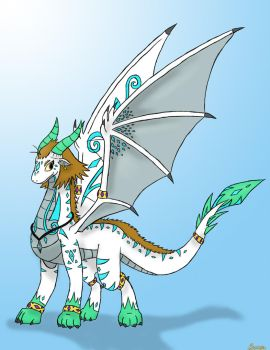 The Silver Dragon by Snowbound-Becca