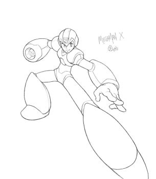 megaman x_sketch by Xeromander