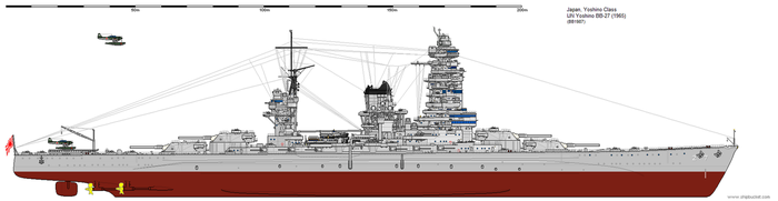Yoshino-class Battleship (1965) by ijnfleetadmiral