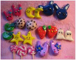 Fimo Earring Collection 1 by Kijani