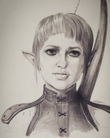 Sera - Dragon Age Inquisition - Portrait by ellieshep