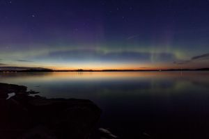 Auroras after sunset by Antz0