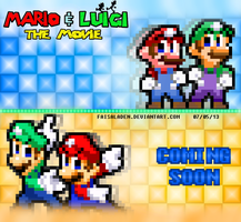 Mario and Luigi The Movie-Blast To The Past Poster by FaisalAden