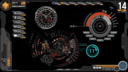 Avengers Rainmeter Skin by Jamezzz92