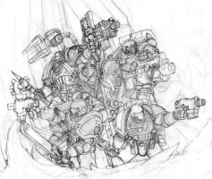 More Deathwatch Sketch by cronevald