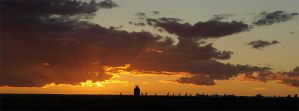 Roswell Airport Sunset by jensaarai