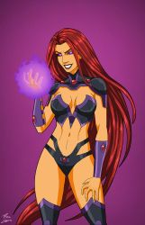 Blackfire (Earth-27) commission by phil-cho