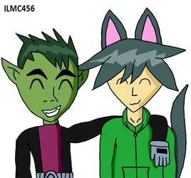 Beast Boy And CatAttack by ILoveMyCat456