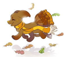 Flying Leaves by PixelRaccoon