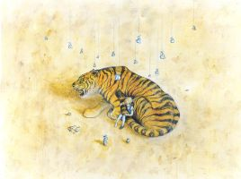 The Tiger Who Came to Tea by PhillyBoyWonder