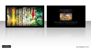 Jan Kasparec - visual artist -business card 2 by R1Design