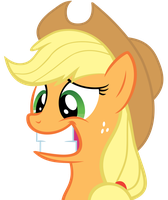 Apple Jack Awkward Smile by Bronyvectors