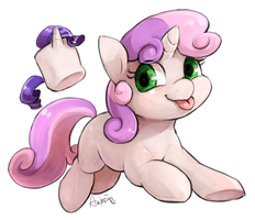 Sweetie Belle and the magical marshmallow by Audrarius