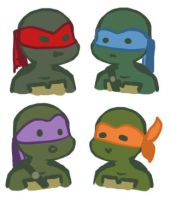 TMNT icons by JICheshire