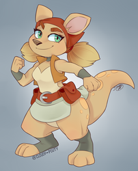 Sheila the Kangaroo - Reignited Redesign??? by cloudypouty