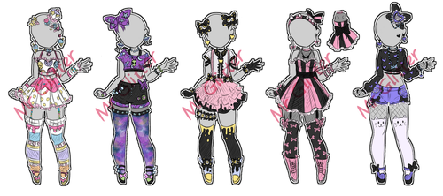 Custom Outfit Adopts by MrGlitter