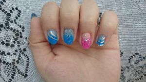 Stay close to me inspirated nails by Anonymous---Lucifer