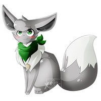[Art Trade] .:Faith the Eevee:. by XRed-moon