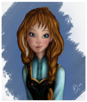 Anna of Arendelle by poussiere-d-ange