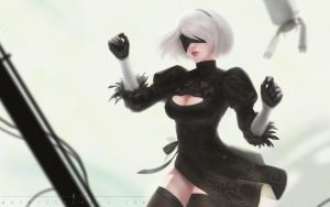 Fanart - 2B by Warmics