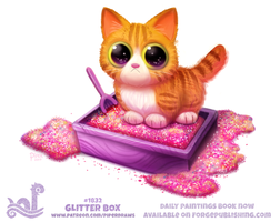 Daily Paint 1832# Glitter Box by Cryptid-Creations