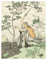 Druantia and the Sapling by jessehbechtold