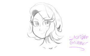 Starlight Glimmer Manga Sketch by TheHonestCap