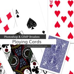 Playing Card Photoshop and GIMP Brushes by redheadstock
