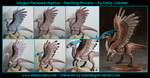 Winged Parasaurolophus : Painting Process by emilySculpts