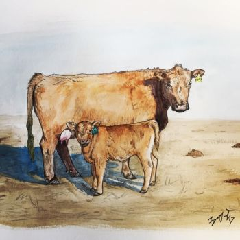 Cow and Calf by DinoHunter000