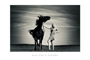 Blue Eyes and Corinna by LiStroeh
