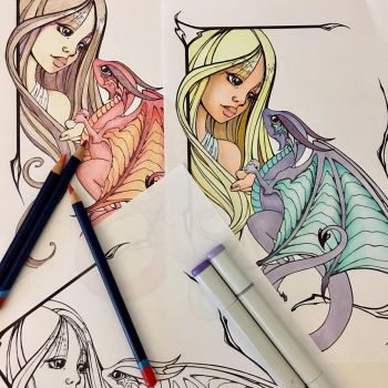 Dragon Coloring Page by BittyBiteyOnes