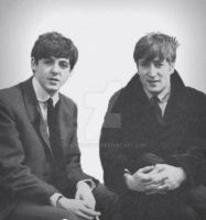 John and Paul on The Mersey Sound, BBC 1963 by themodette