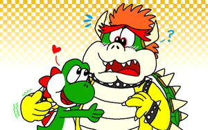 Yoshi and Bowser - Party Animals by YoshiBowserFanatic