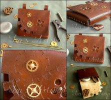 Steampunk Leather Belt Bag II by izasartshop